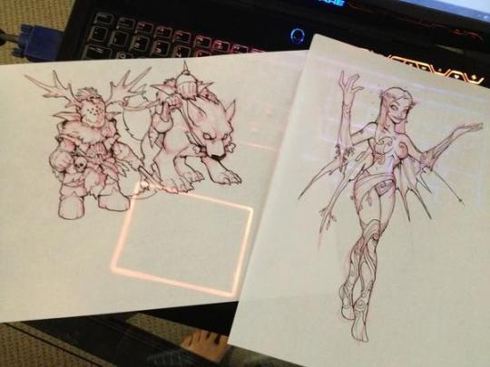 Novos desenhos.