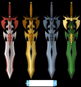 DragonBlades Platina, Ouro, e Emerald